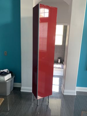 IKEA high gloss red armoire storage for Sale in Land O Lakes, FL
