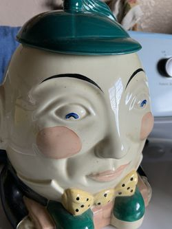 CROWN DEVON HUMPTY DUMPTY BISCUIT COOKIE JAR MADE IN ENGLAND for Sale in Fresno,  CA
