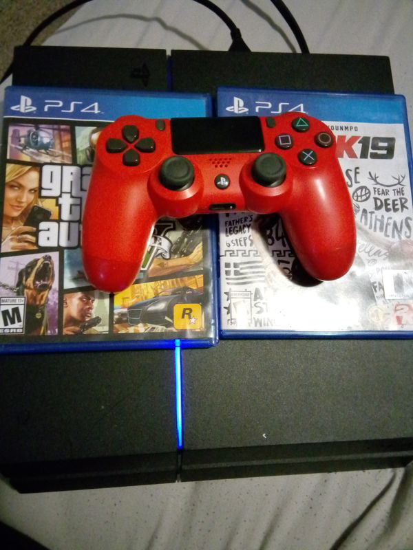 PS4 2 GAMES 1 CONTROLLER