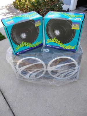 """Two Polk 12"""" Subs with new box for Sale in Lake Forest, CA"""