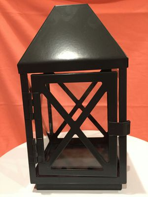 Medium Gray Metal and Glass Lantern for Sale in Fontana, CA