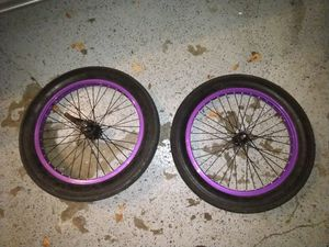 "3G 20"" Semi-Fat Tires w/ Rims - Perfect for BMX, Cruisers, Lowriders for Sale in Fort Worth, TX"