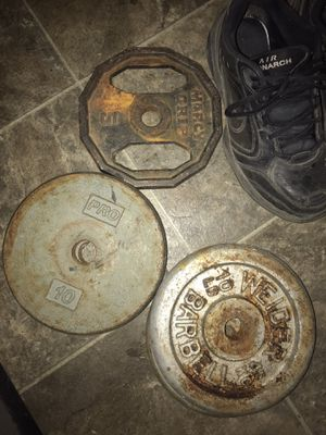 Weights. 10lb, 5lb, bench bar. for Sale in Modesto, CA