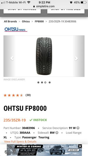 235/35/19 tires for Sale in Carol Stream, IL
