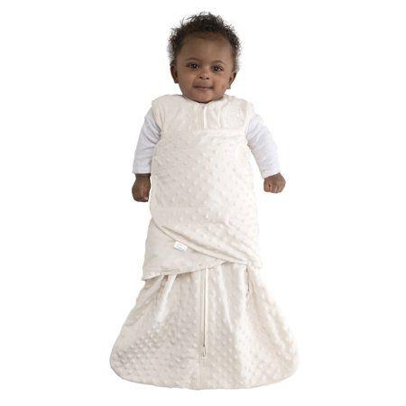HALO SleepSack Swaddle, Velboa, Cream Plush Dots, Newborn