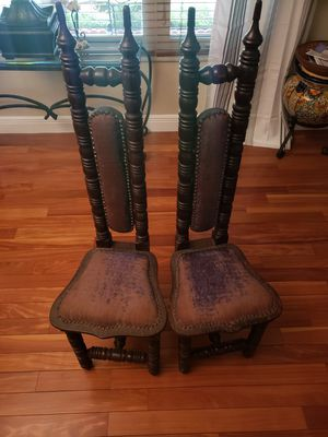Antique wooden chairs set 2 English for Sale in Plantation, FL