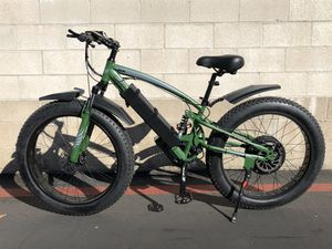 New FAST custom eBike, 1500w motor 54v lithium battery electric bicycle cruiser mountain bike downhill fat tire full suspension for Sale in Orange, CA