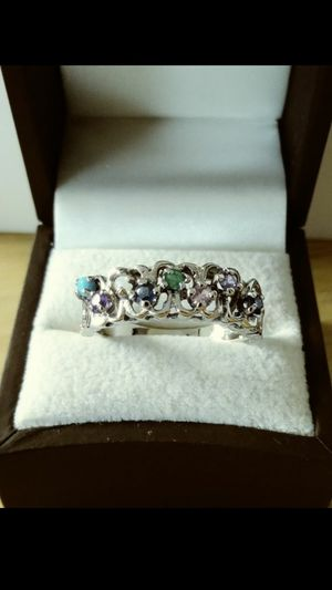 *ANTIQUE UNIQUE* Solid 14k White Gold NATURAL COCKTAIL STONES ring size 10 $360 OR BEST OFFER **FOR CHRISTMAS WE SHIP!!📦📫** for Sale in Phoenix, AZ