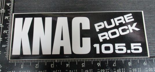 KNAC 105.5 fm radio station pure rock DECAL STICKER for Sale in Los Angeles,  CA