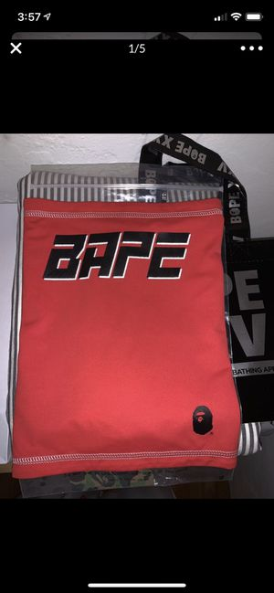 BAPE A Bathing Ape Red Reflective Face Mask / Neck Gaiter for Sale in Oakland, CA