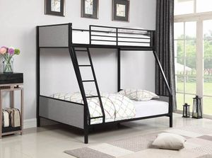 Brand New Upholstered Metal Bunk Bed Twin/Full for Sale in La Vergne, TN