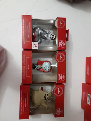 Hallmark Red Box Sally,Jack & Oogie Nightmare Before Christmas Ornaments. Set 3 for Sale in Miami, FL