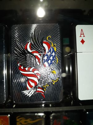 New American eagle and flag windproof oil lighter similar to zippo for Sale for sale  Lancaster, OH