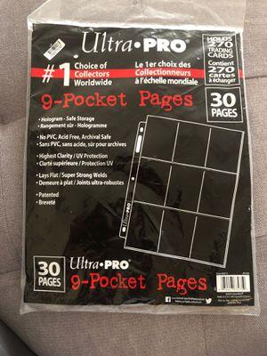 9 pocket pages Ultra Pro for Sale in Des Plaines, IL