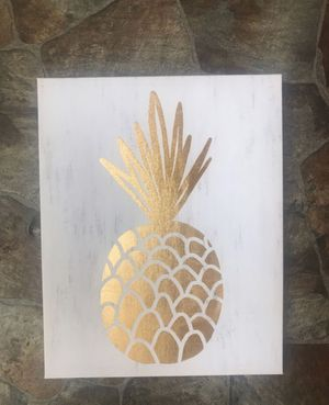 Gold pineapple canvas / Room Decor 20 by 18 inch for Sale in Virginia Beach, VA