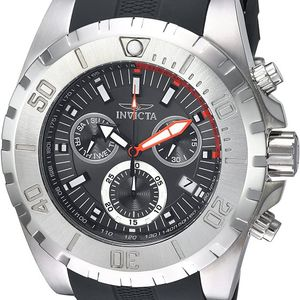 MEN'S BRAND NEW LUXURY BIG FACE INVICTA SILVER TONE WITH DARK GRAY BLUE SILICONE STRAP BAND CHRONOGRAPH WATCH. for Sale in Los Angeles, CA