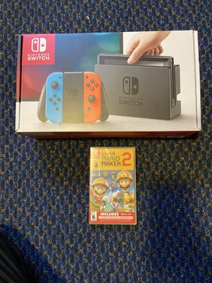 Brand New Nintendo Switch And Brand New Mario Maker 2 for Sale in Chino, CA