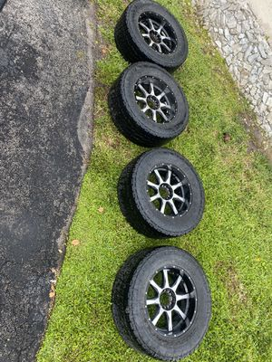 Truck rims with tires for Sale in Coral Springs, FL