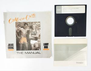 """Erving & Bird Go One-On-One - 5.25"""" Floppy Disk, Manual etc. (1983) - PC Tandy for Sale in Trenton, NJ"""