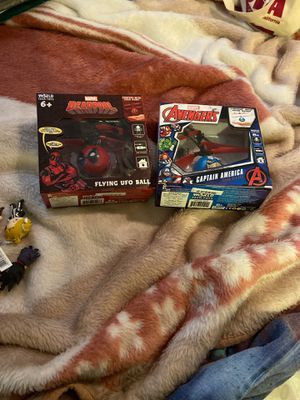 Marvel Deadpool and captain America flying ufo ball for Sale in Highland, CA