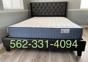 Queen Expresso Tufted Bed with Mattress Included for Sale in Fresno, CA