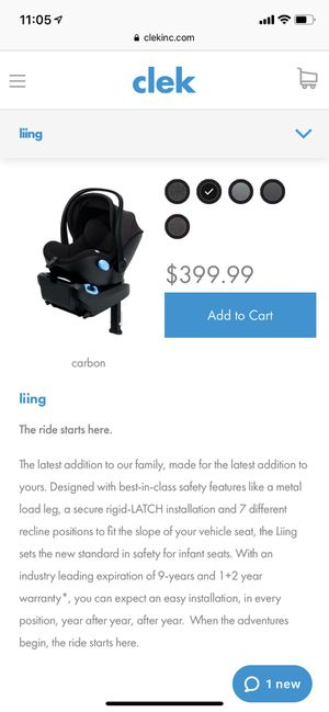 2019 brand new Clek Liing Infant Car Seat for Sale in Swampscott, MA