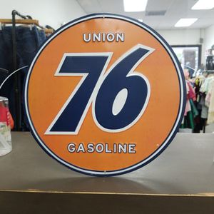 Metal Union 76 Sign, 12 Inch Diameter for Sale in Artesia, CA