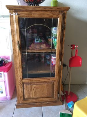 Cabinet w/glass for Sale in Lodi, CA