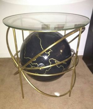 Chalkboard Globe End Table - Gold for Sale in St. Louis, MO