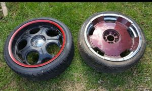 2 sets of 20 inch rims 5 lug GMC front wheel drive for Sale in Reynoldsburg, OH