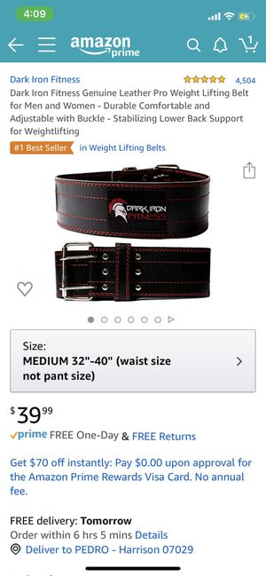 Dark Iron Fitness weight lifting belt for Sale in Newark, NJ