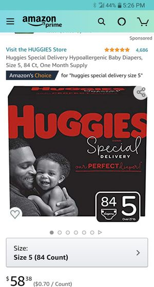 Huggies Specials 84 count (1in stocknw) Section Front Display for Sale in Phoenix, AZ