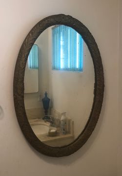 Oval gold lead mirror for Sale in Compton,  CA