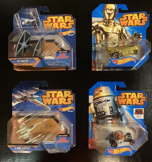 4 Star Wars Hot Wheels - By Disney for Sale for sale  Upland, CA