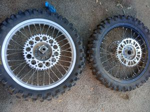 2 Maxxis Rear MX Tire & Wheel for Sale in Corona, CA