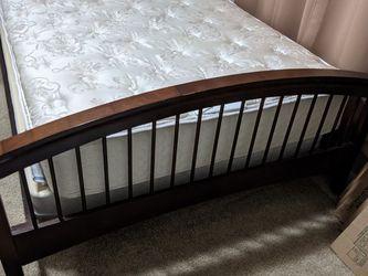 Wooden Bedframe (full/queen) for Sale in Denver,  CO