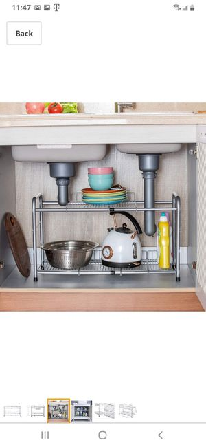 2-Tier Under Sink Expandable Shelf Organizer (NEW) for Sale in Rancho Cucamonga, CA