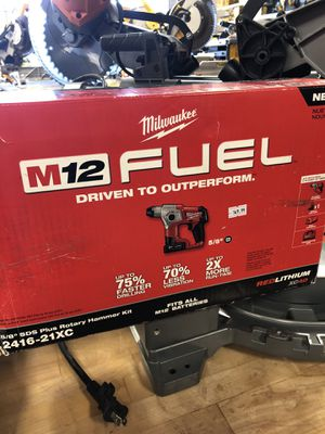 Milwaukee 5/8 SDS plus rotory hammer kit m12 for Sale in Garden Grove, CA