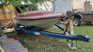 22' steel trailer great for project and jet boat NO MOTOR for Sale in Houston, TX