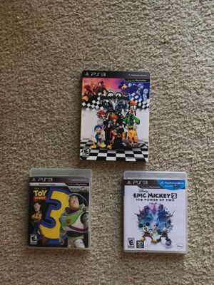 Epic Mickey2 ,kingdom hearts, toy story 3 for PlayStation 3 for Sale in Miami, FL