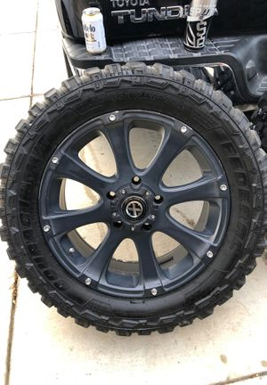American Racing Rims- ATX series 20 inch rims/wheels/tires for Sale in Converse, TX