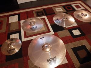 Drum set sabian cymbal set for Sale in South Gate, CA
