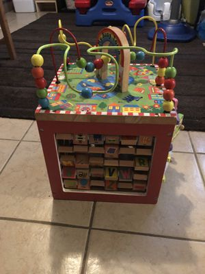 Baby toys 5-1 play cube 12 inches tall for Sale in Philadelphia, PA