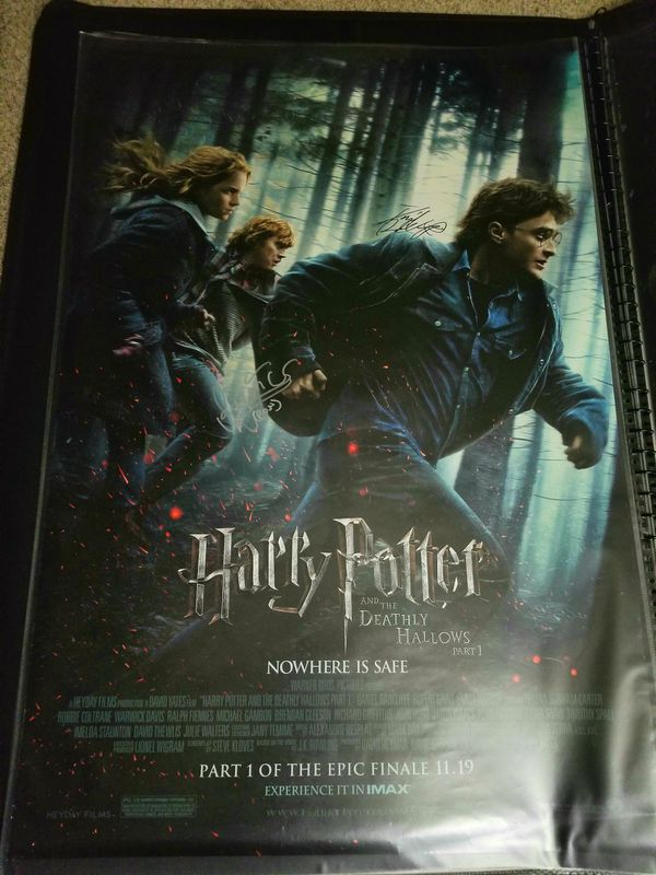 Harry Potter Signed Poster 27x40