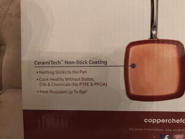 COPPER CHEF - 2 SQUARE PANS - BRAND NEW