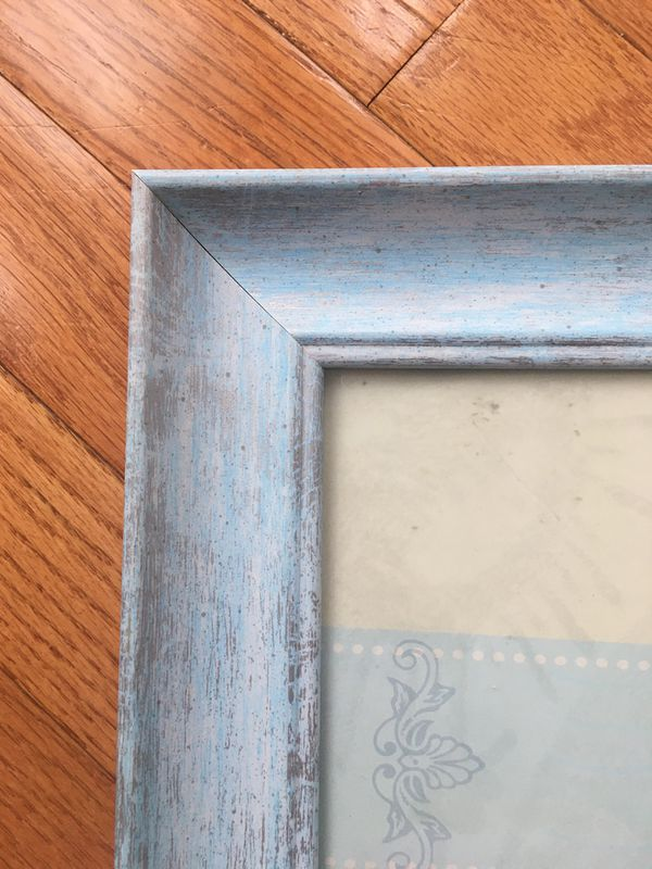 Light blue Shabby Chic Style Frame