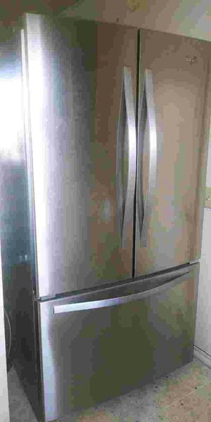 Whirlpool America stainless bottom freezer refrigerator for Sale in Springfield, OR
