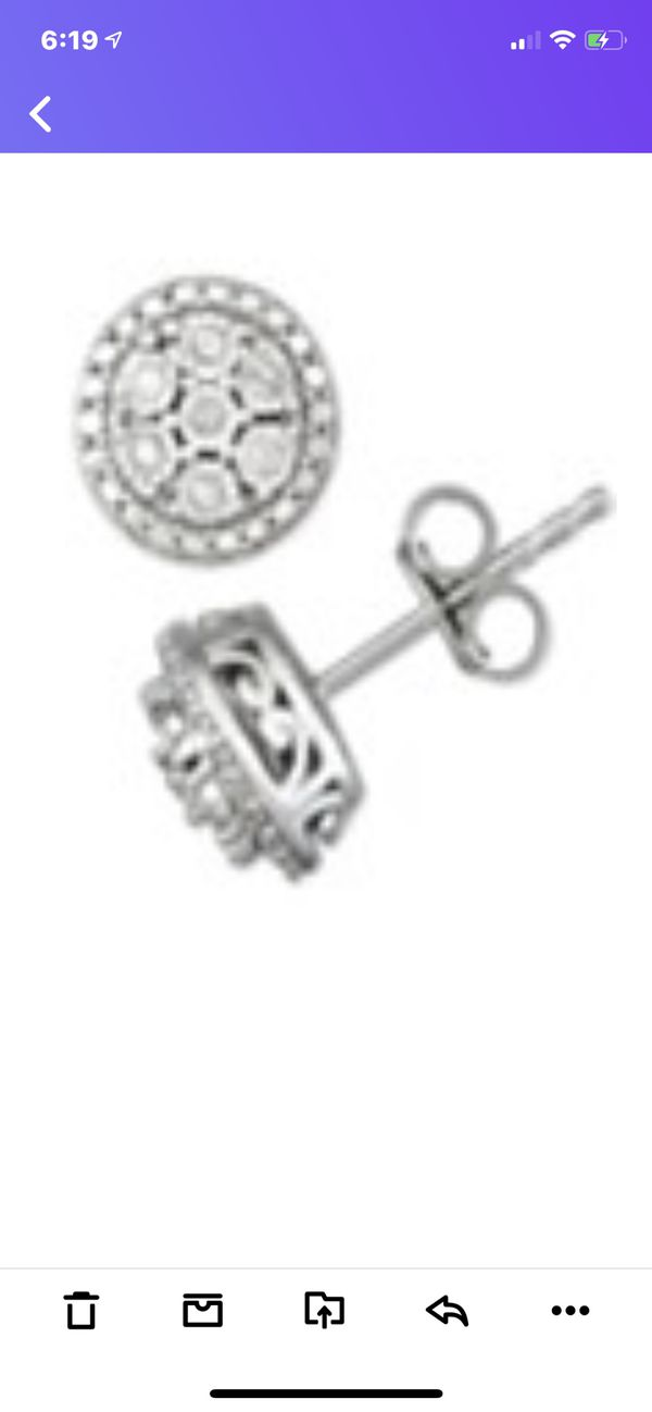 1/10 carat Diamond Post Earrings