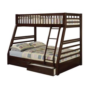 Twin over full wooden bunk bed for Sale in Chula Vista, CA