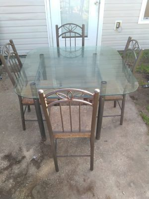Glass dining table set for Sale in Pensacola, FL
